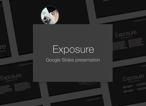 Presentation Templates: Exposure Google Slides Presentation Template #05125