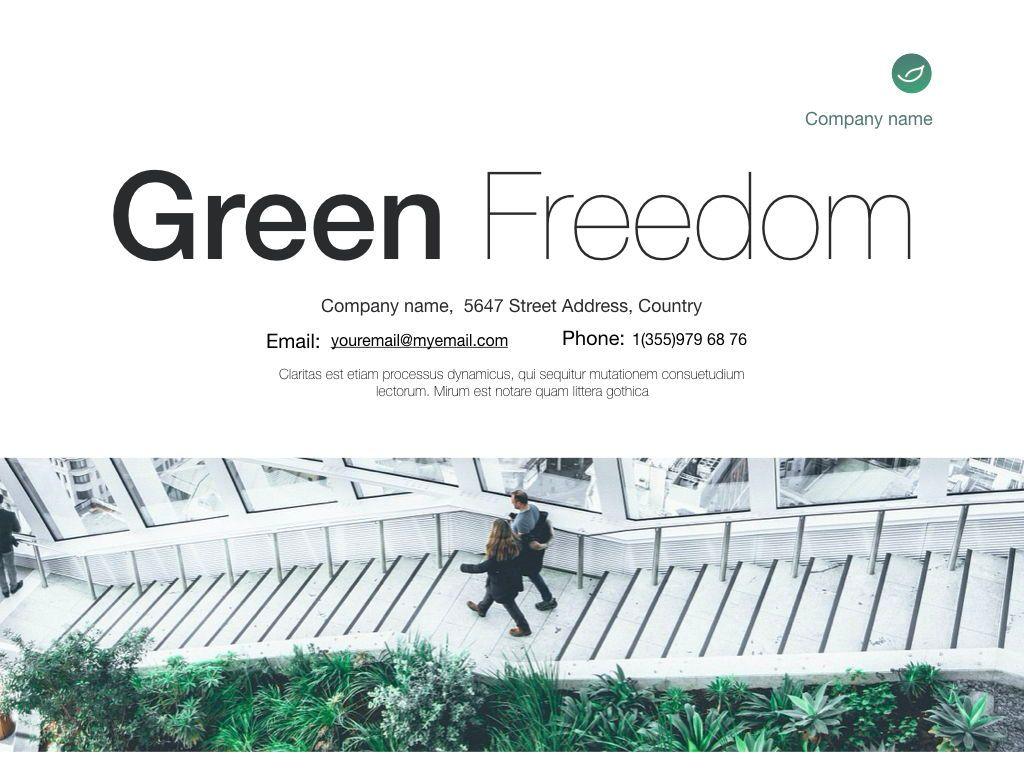 Green Freedom Google Slides Presentation Template, Slide 25, 05128, Presentation Templates — PoweredTemplate.com