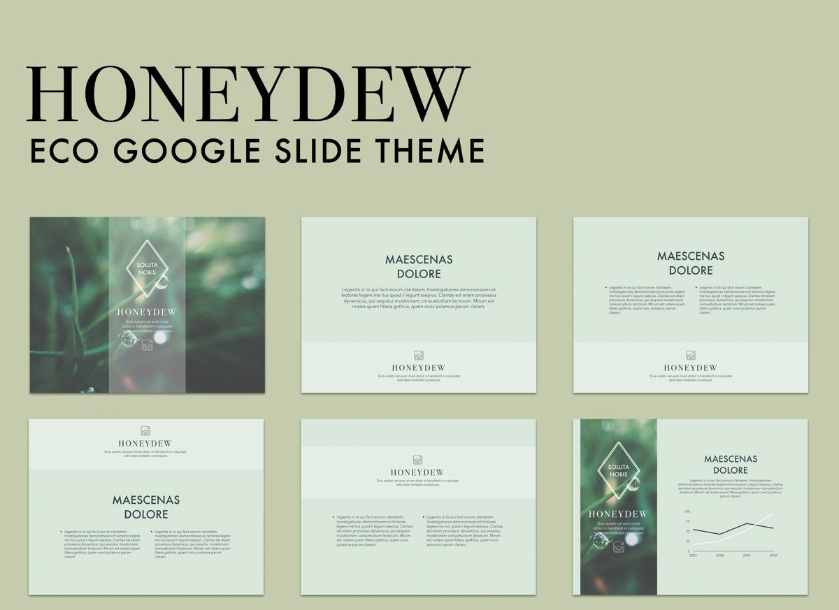 Honeydew Google Slides Presentation Template, 05129, Presentation Templates — PoweredTemplate.com