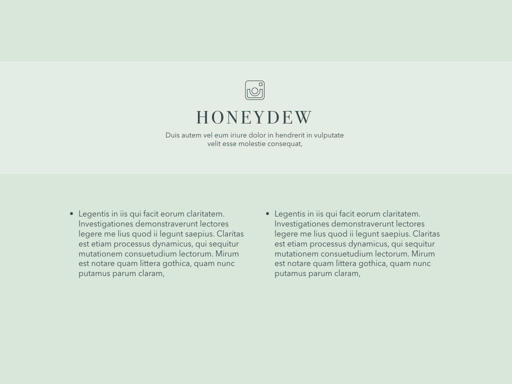 Honeydew Google Slides Presentation Template, Slide 18, 05129, Presentation Templates — PoweredTemplate.com