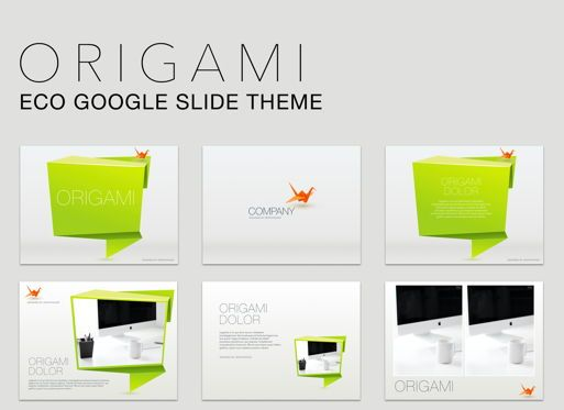 Presentation Templates: Origami Google Slides Presentation Template #05132