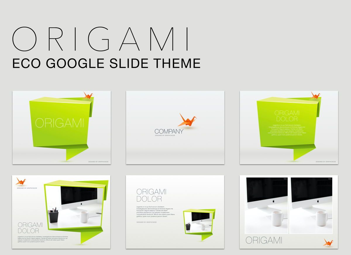 Origami Google Slides Presentation Template, 05132, Presentation Templates — PoweredTemplate.com