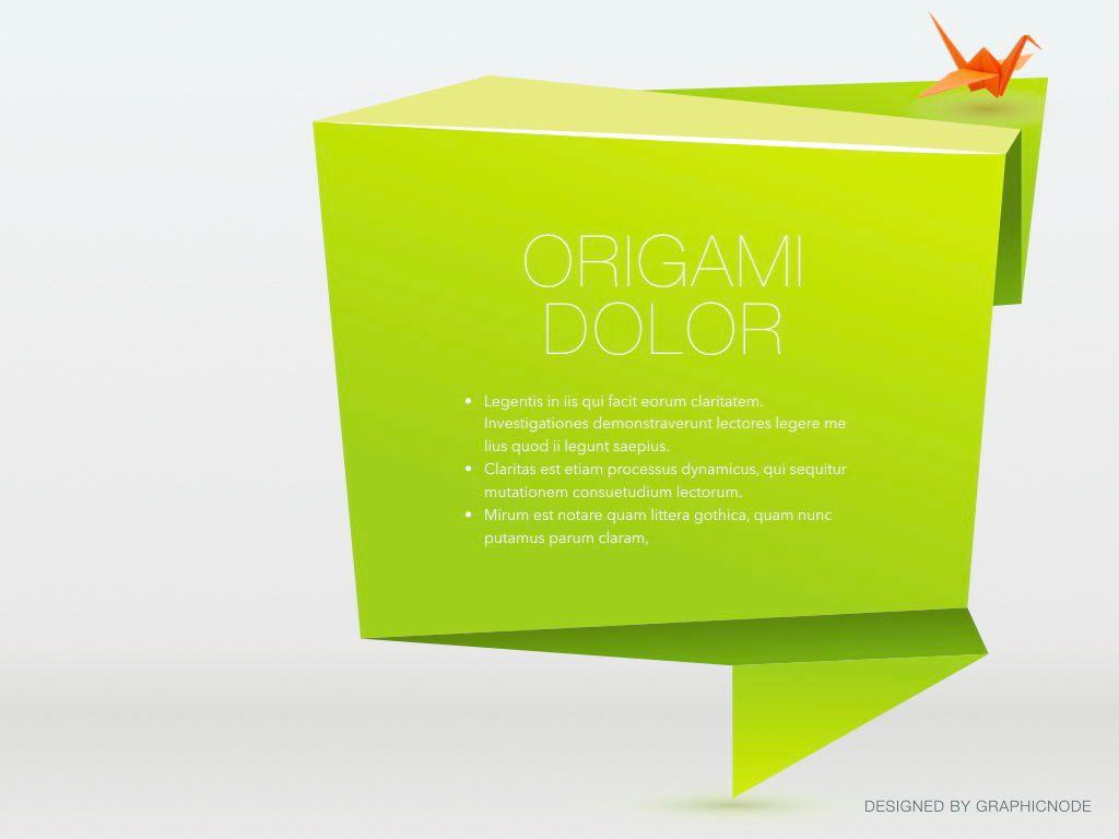 Origami Google Slides Presentation Template, Slide 15, 05132, Presentation Templates — PoweredTemplate.com