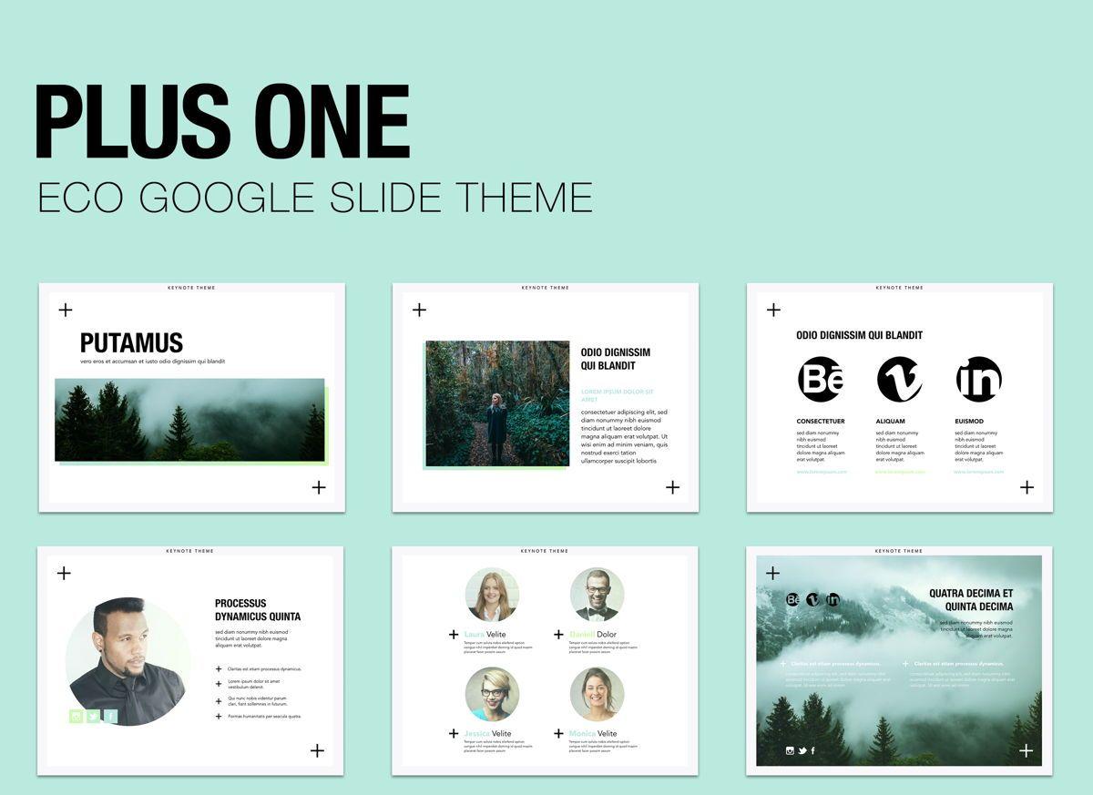 Plus One Google Slides Presentation Template, 05133, Presentation Templates — PoweredTemplate.com