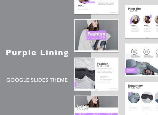 Presentation Templates: Purple Lining Google Slides Presentation Template #05134