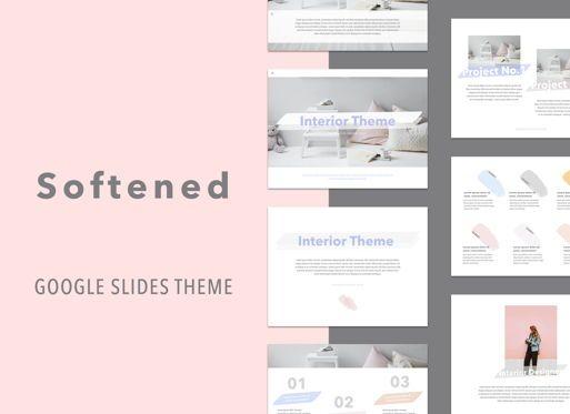 Presentation Templates: Softened Google Slides Presentation Template #05135