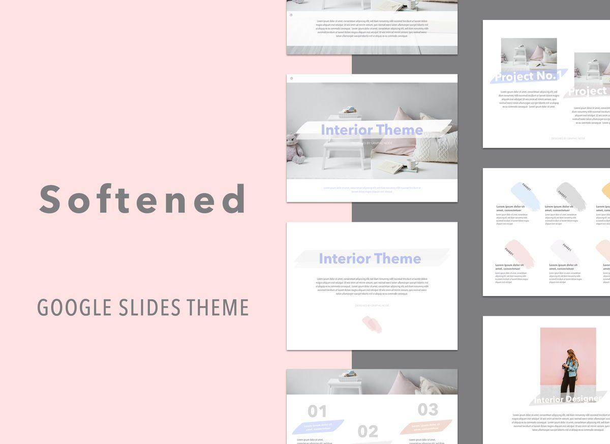 Softened Google Slides Presentation Template, 05135, Presentation Templates — PoweredTemplate.com