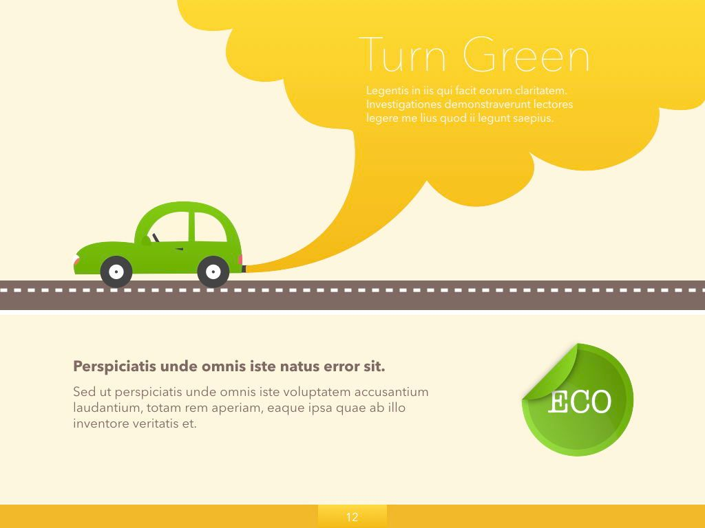 Turn Green Google Slides Presentation Template, Slide 5, 05137, Presentation Templates — PoweredTemplate.com