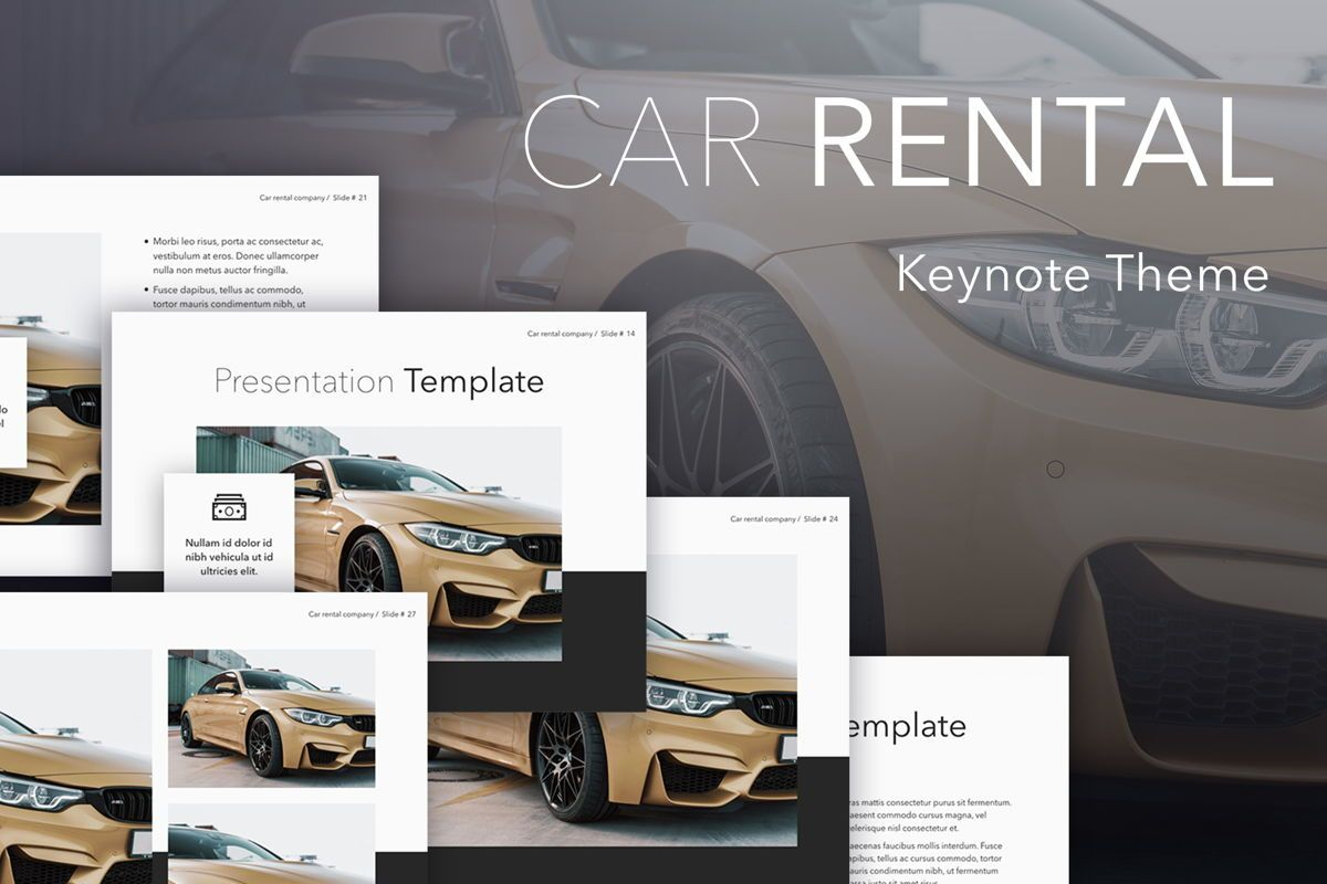 Car Rental Keynote Theme, 05140, Presentation Templates — PoweredTemplate.com