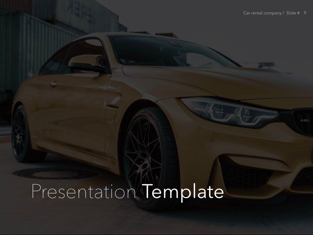 Car Rental Keynote Theme, Slide 10, 05140, Presentation Templates — PoweredTemplate.com