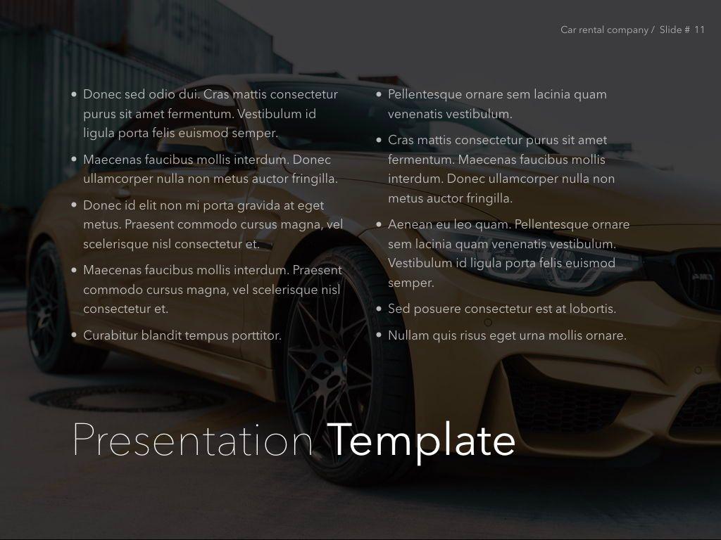 Car Rental Keynote Theme, Slide 12, 05140, Presentation Templates — PoweredTemplate.com