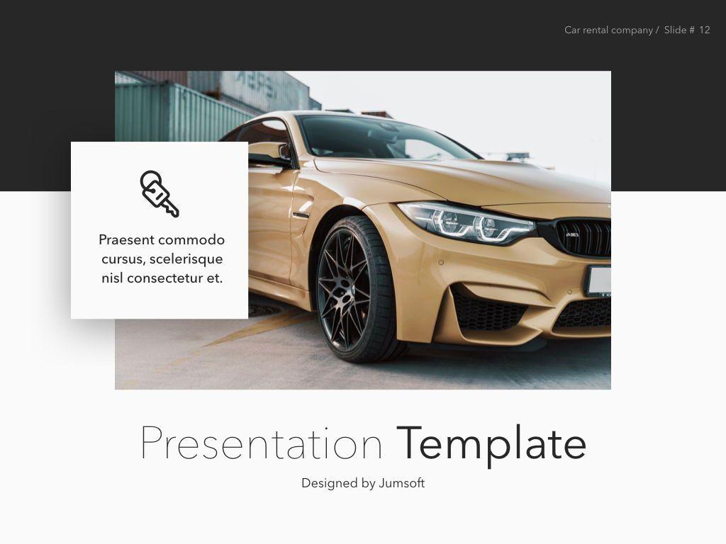 Car Rental Keynote Theme, Slide 13, 05140, Presentation Templates — PoweredTemplate.com