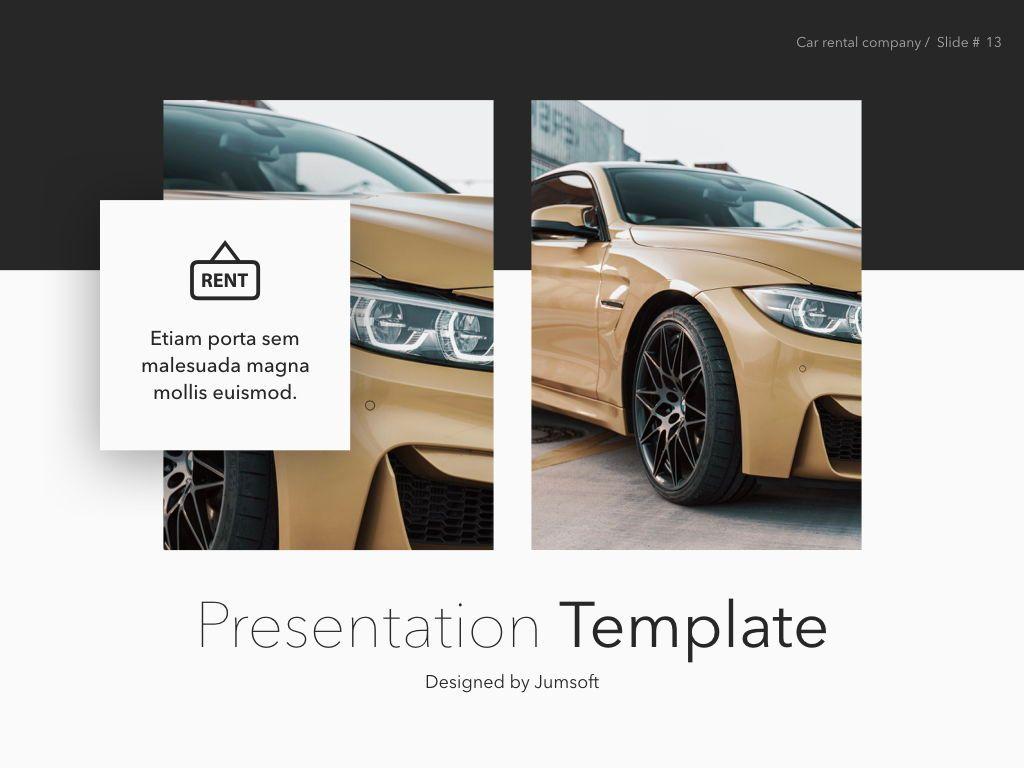 Car Rental Keynote Theme, Slide 14, 05140, Presentation Templates — PoweredTemplate.com