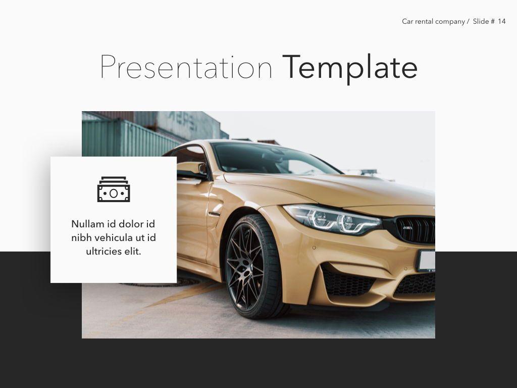 Car Rental Keynote Theme, Slide 15, 05140, Presentation Templates — PoweredTemplate.com