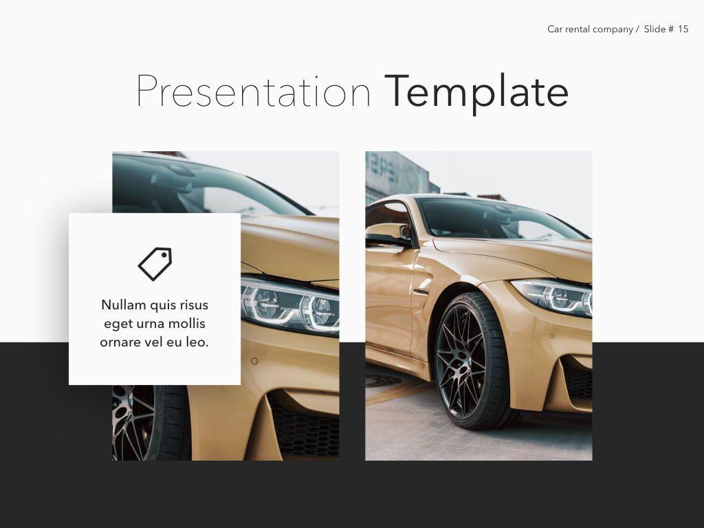 Car Rental Keynote Theme, Slide 16, 05140, Presentation Templates — PoweredTemplate.com