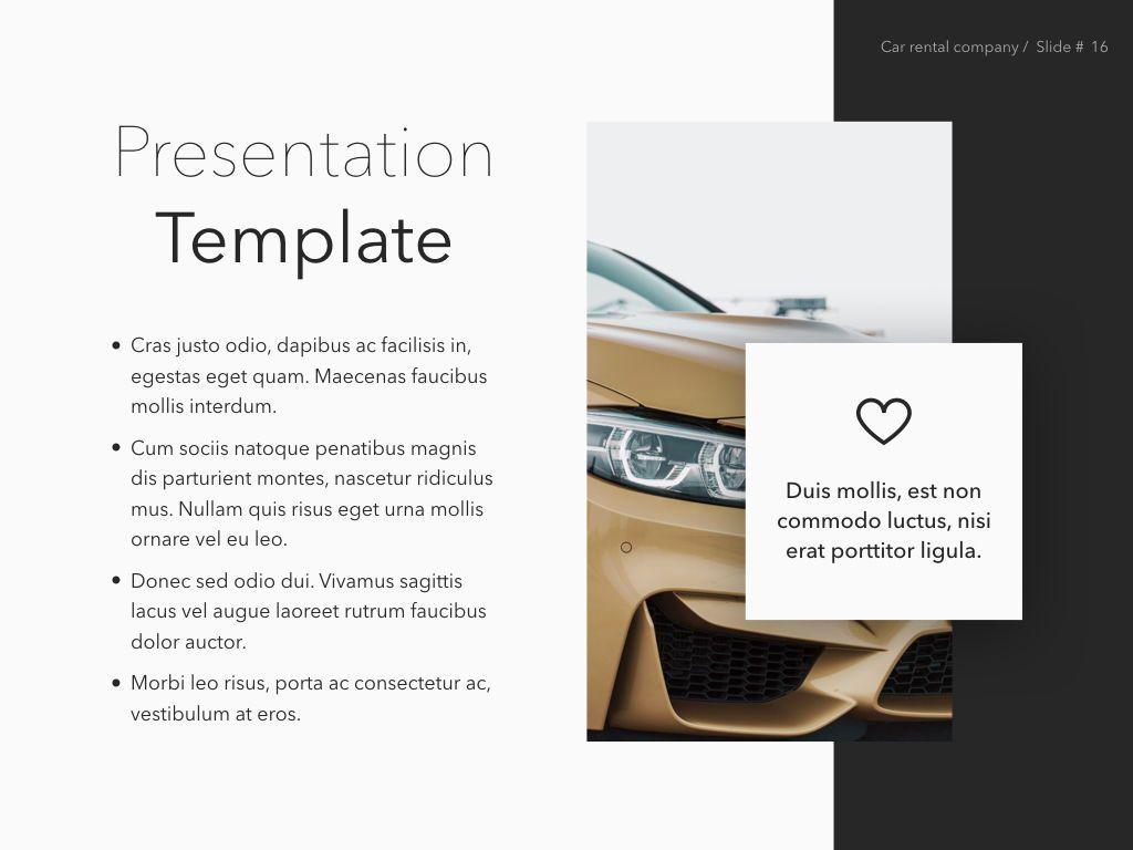 Car Rental Keynote Theme, Slide 17, 05140, Presentation Templates — PoweredTemplate.com