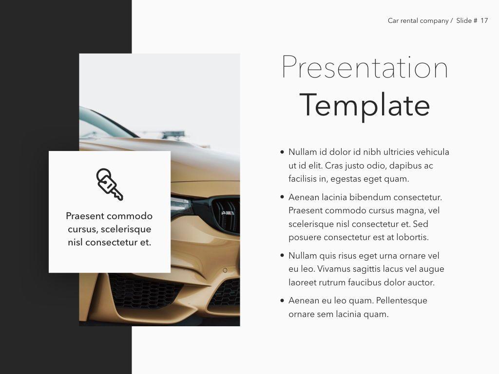 Car Rental Keynote Theme, Slide 18, 05140, Presentation Templates — PoweredTemplate.com