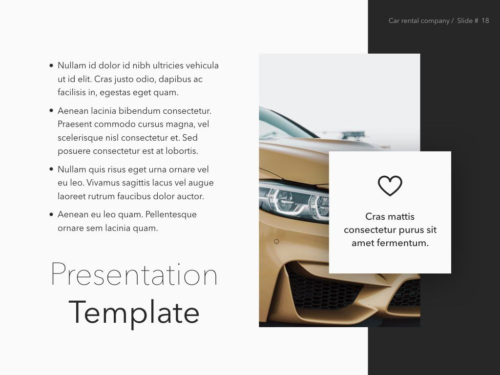 Car Rental Keynote Theme, Slide 19, 05140, Presentation Templates — PoweredTemplate.com