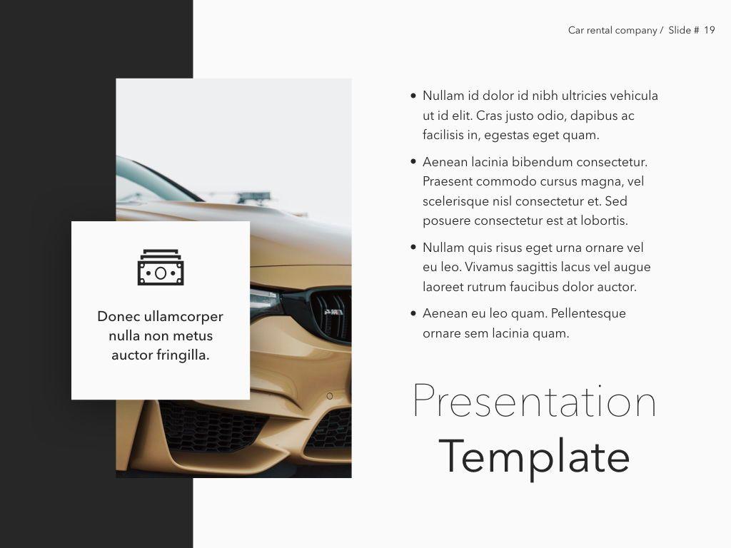 Car Rental Keynote Theme, Slide 20, 05140, Presentation Templates — PoweredTemplate.com