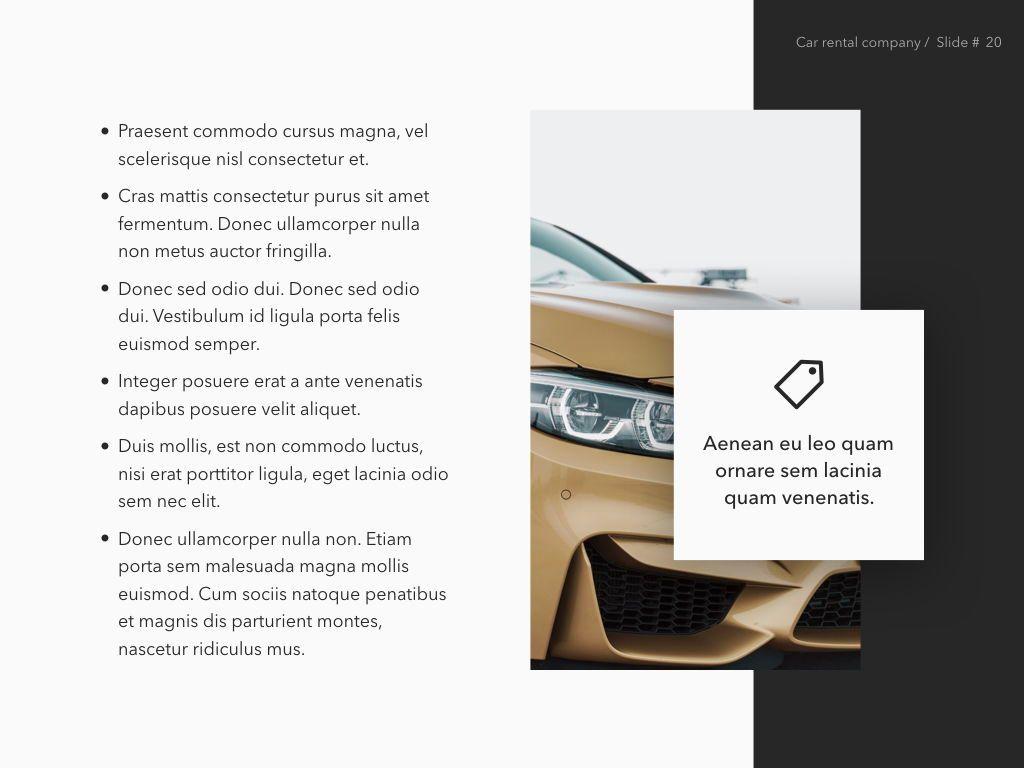Car Rental Keynote Theme, Slide 21, 05140, Presentation Templates — PoweredTemplate.com