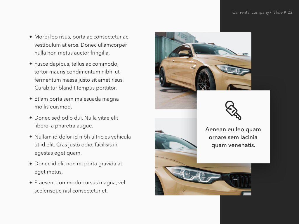Car Rental Keynote Theme, Slide 23, 05140, Presentation Templates — PoweredTemplate.com