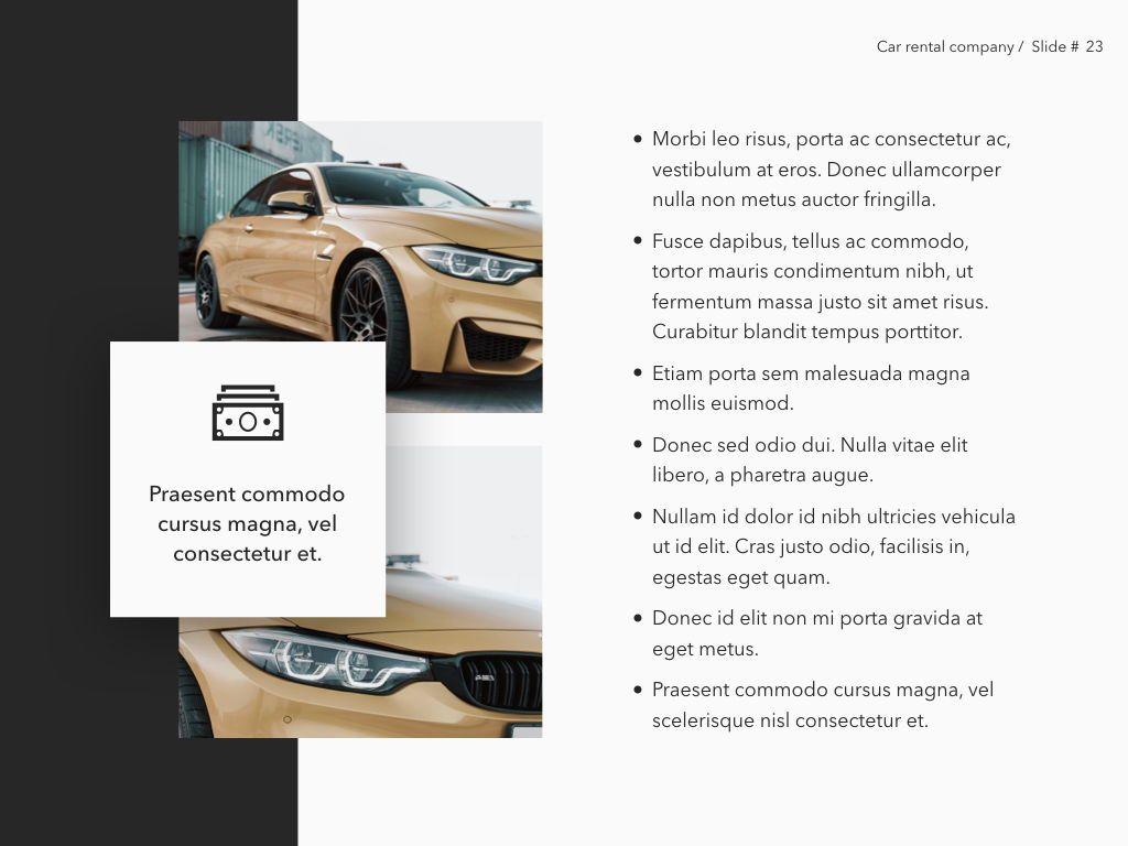 Car Rental Keynote Theme, Slide 24, 05140, Presentation Templates — PoweredTemplate.com