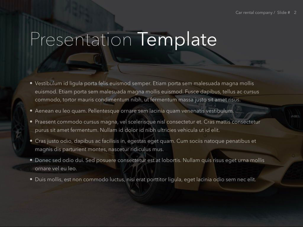 Car Rental Keynote Theme, Slide 3, 05140, Presentation Templates — PoweredTemplate.com