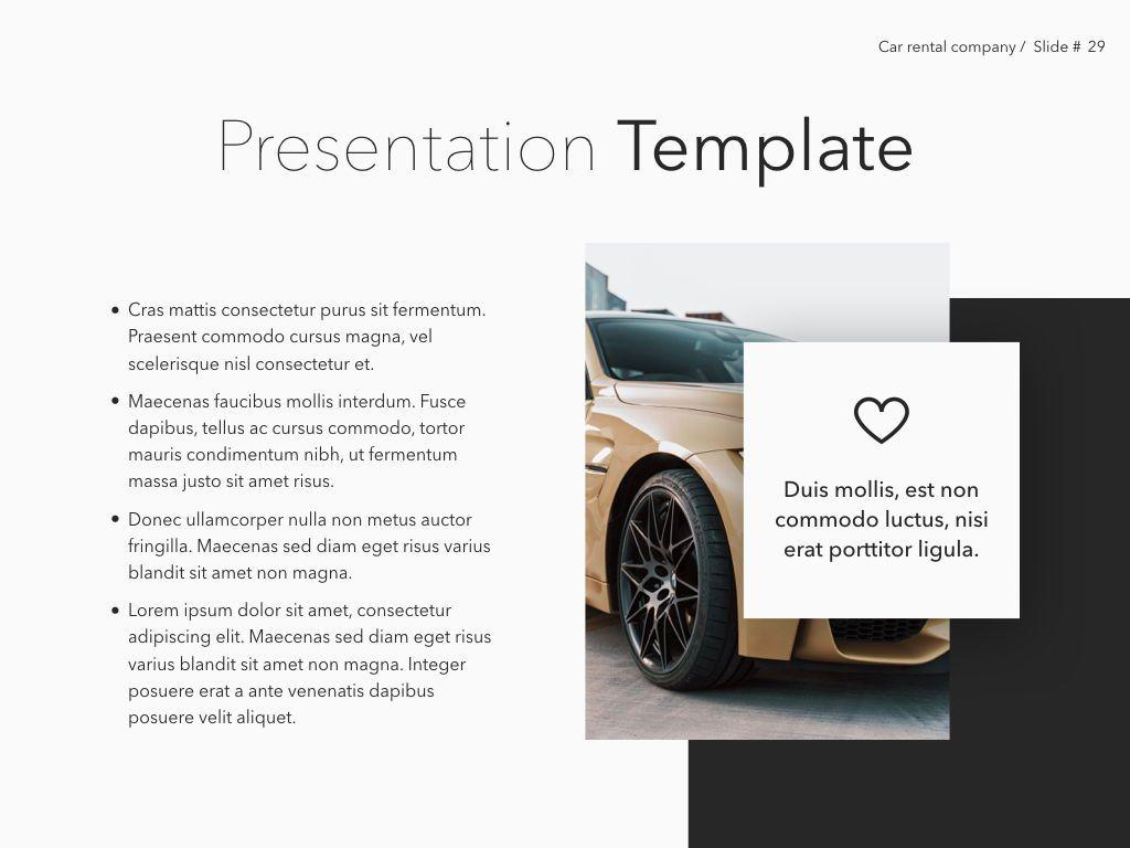 Car Rental Keynote Theme, Slide 30, 05140, Presentation Templates — PoweredTemplate.com