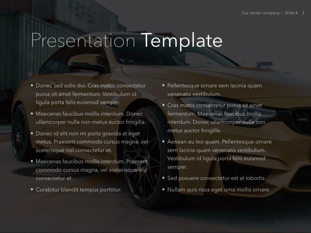 Car Rental Keynote Theme, Slide 4, 05140, Presentation Templates — PoweredTemplate.com