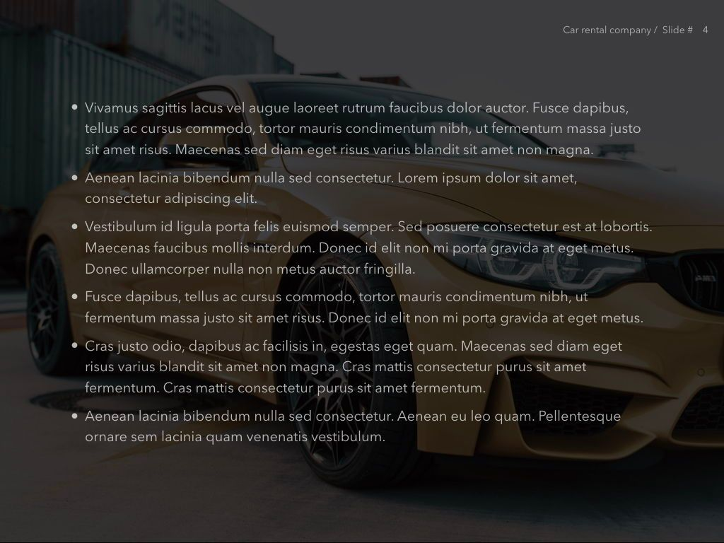 Car Rental Keynote Theme, Slide 5, 05140, Presentation Templates — PoweredTemplate.com