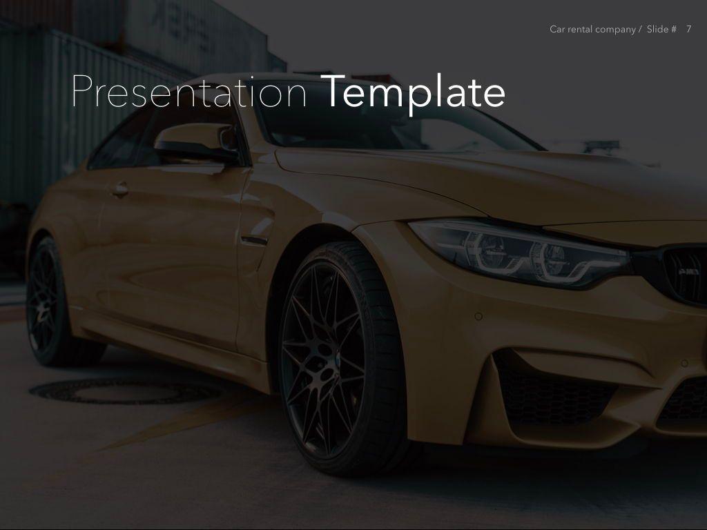 Car Rental Keynote Theme, Slide 8, 05140, Presentation Templates — PoweredTemplate.com