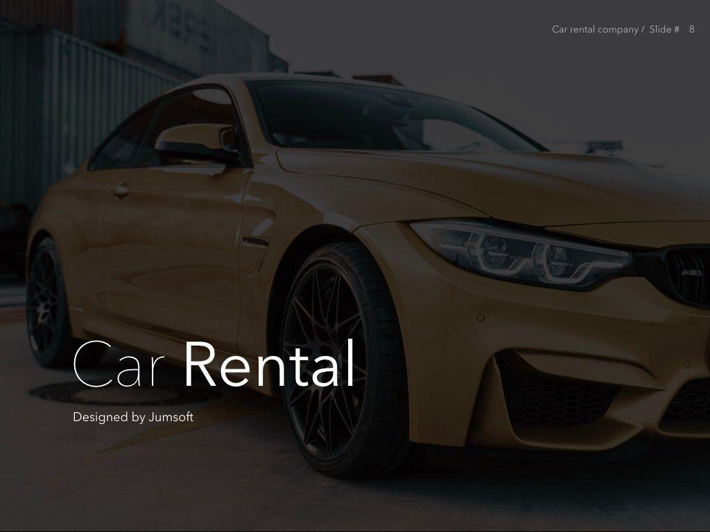 Car Rental Keynote Theme, Slide 9, 05140, Presentation Templates — PoweredTemplate.com