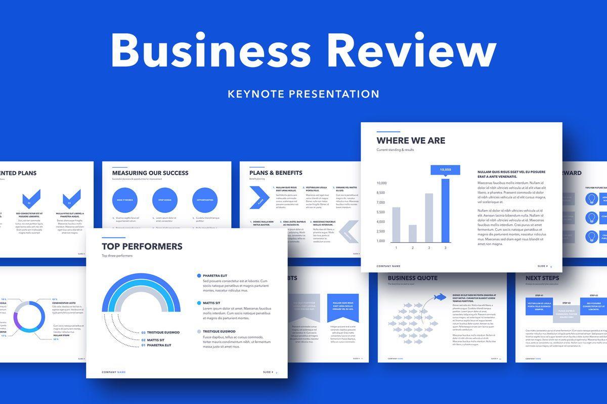Business Review Keynote Template, 05141, Presentation Templates — PoweredTemplate.com
