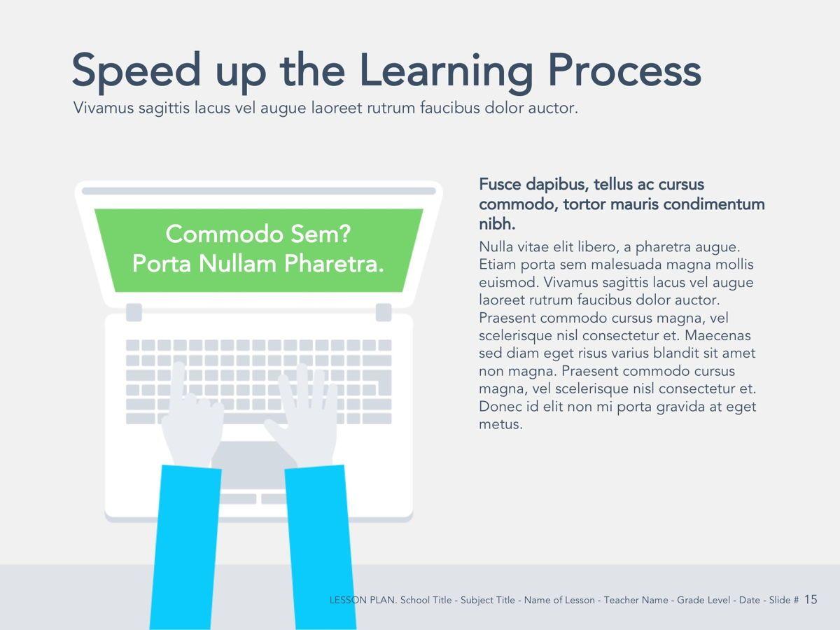 Lesson Plan Google Slides Template, Slide 16, 05143, Presentation Templates — PoweredTemplate.com