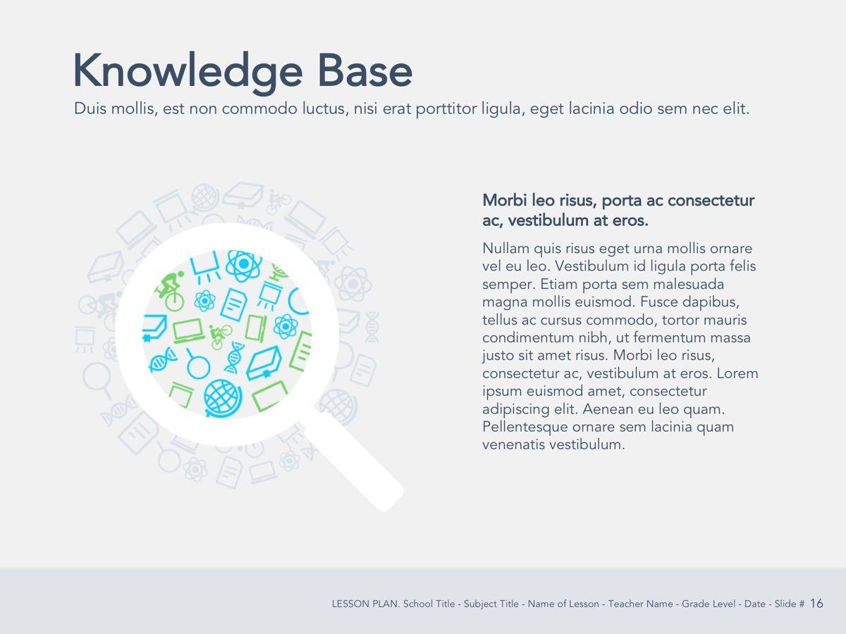 Lesson Plan Google Slides Template, Slide 17, 05143, Presentation Templates — PoweredTemplate.com