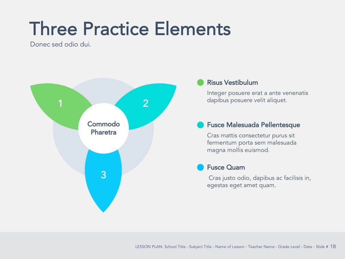 Lesson Plan Google Slides Template, Slide 19, 05143, Presentation Templates — PoweredTemplate.com