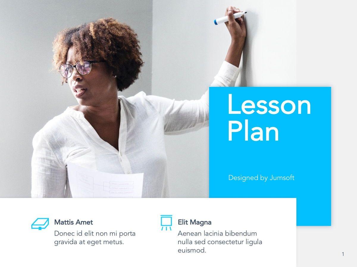 Lesson Plan Google Slides Template, Slide 2, 05143, Presentation Templates — PoweredTemplate.com