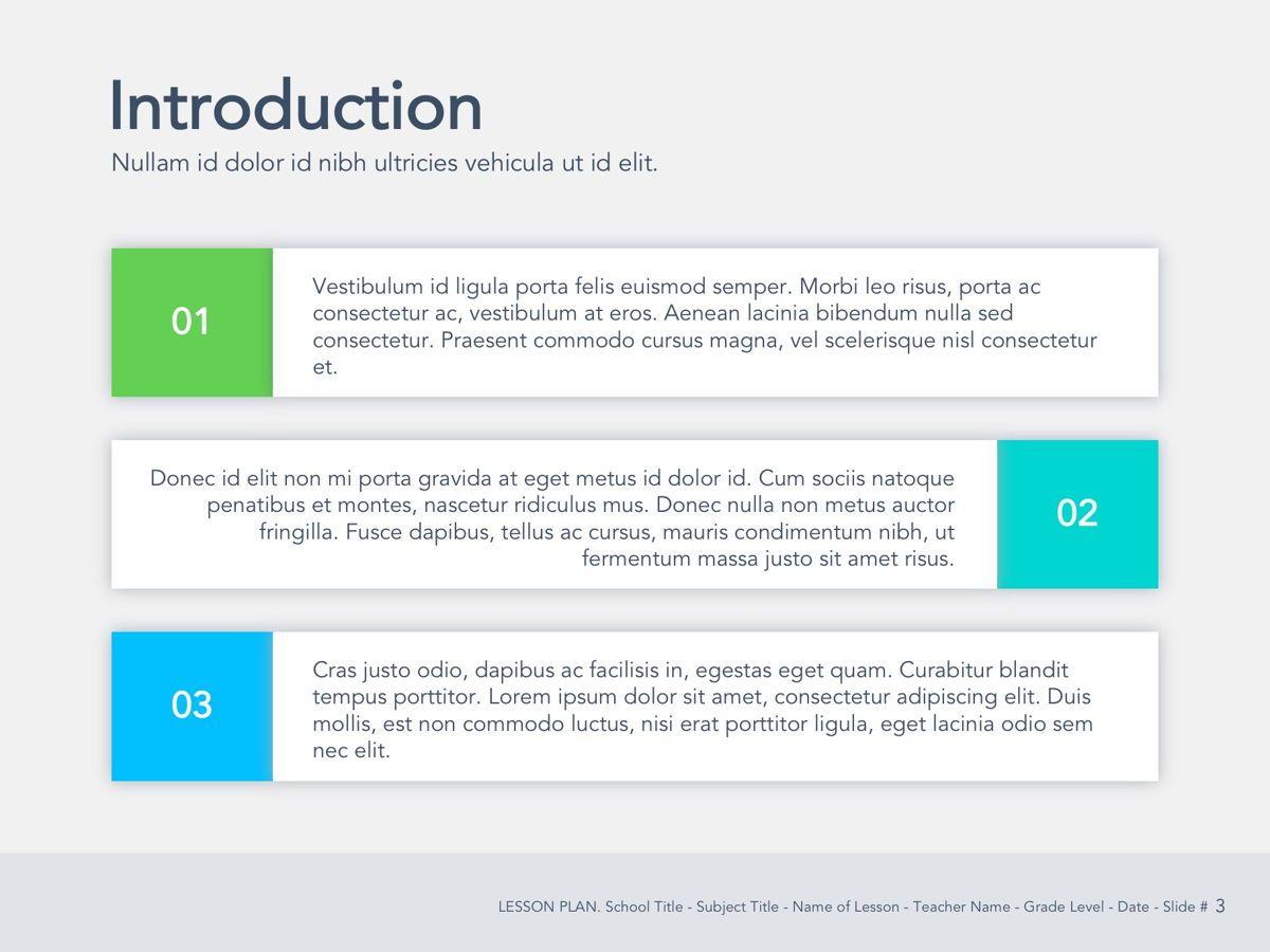 Lesson Plan Google Slides Template, Slide 4, 05143, Presentation Templates — PoweredTemplate.com