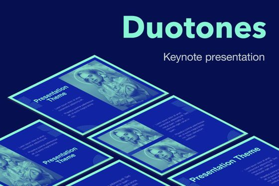 Presentation Templates: Duotones Keynote Theme #05144