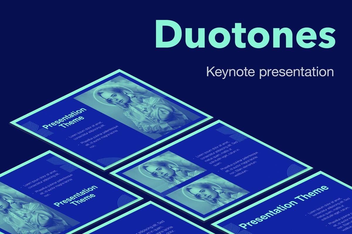 Duotones Keynote Theme, 05144, Presentation Templates — PoweredTemplate.com