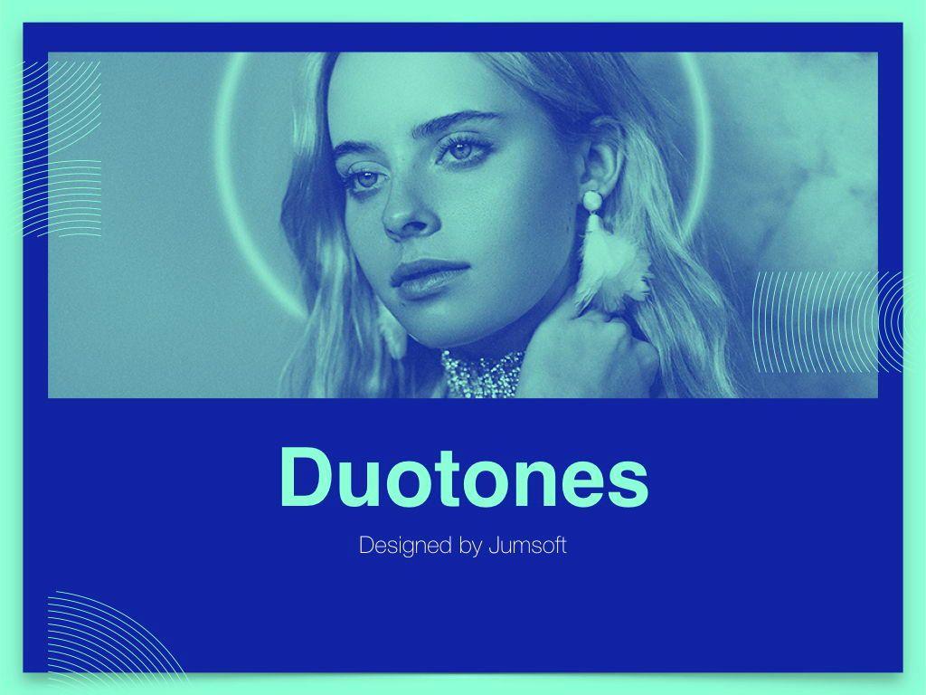 Duotones Keynote Theme, Slide 13, 05144, Presentation Templates — PoweredTemplate.com