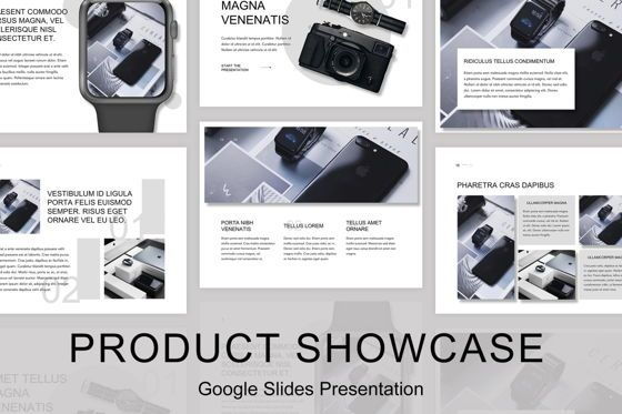 Presentation Templates: Product Showcase Google Slides Template #05146