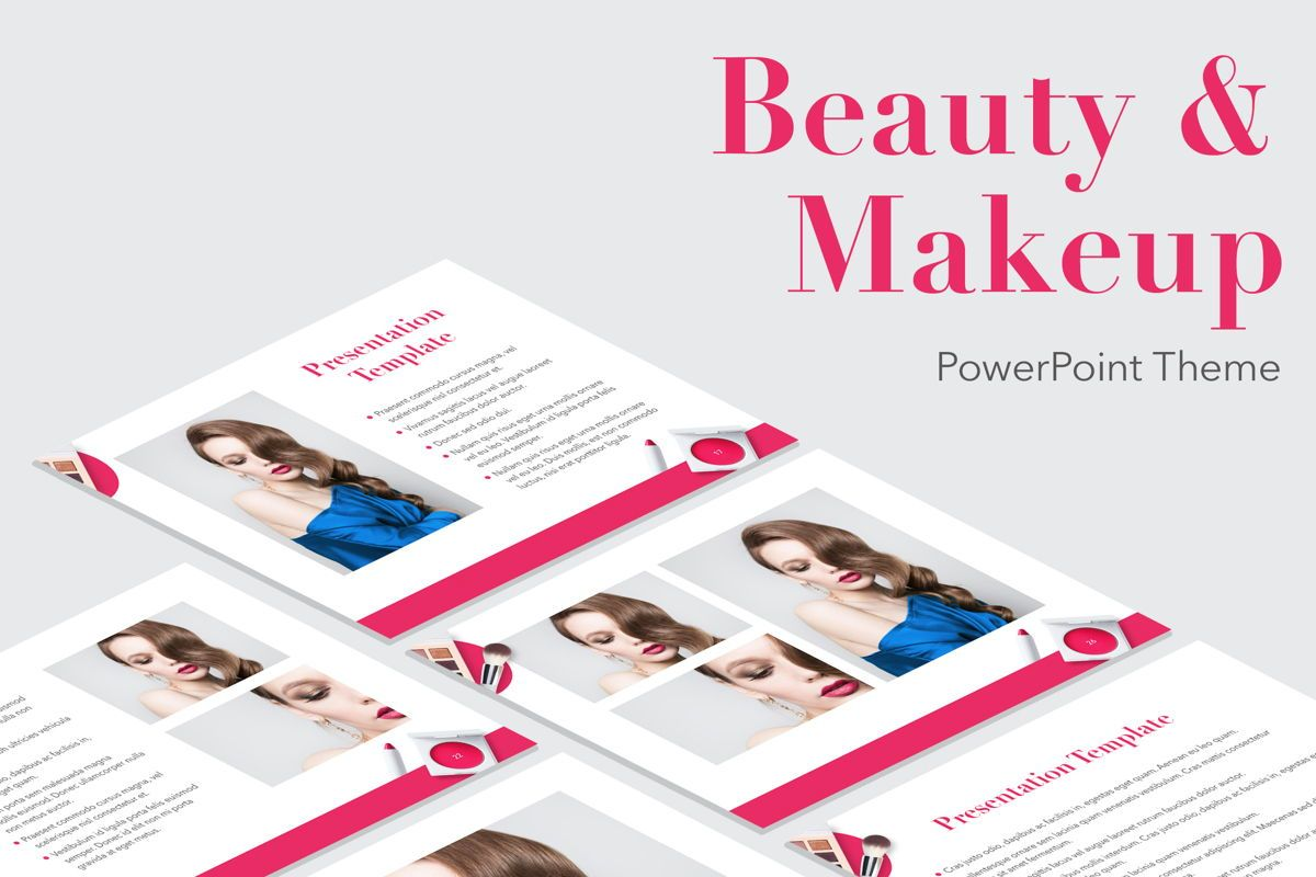 Beauty and Makeup PowerPoint Theme, 05148, Presentation Templates — PoweredTemplate.com