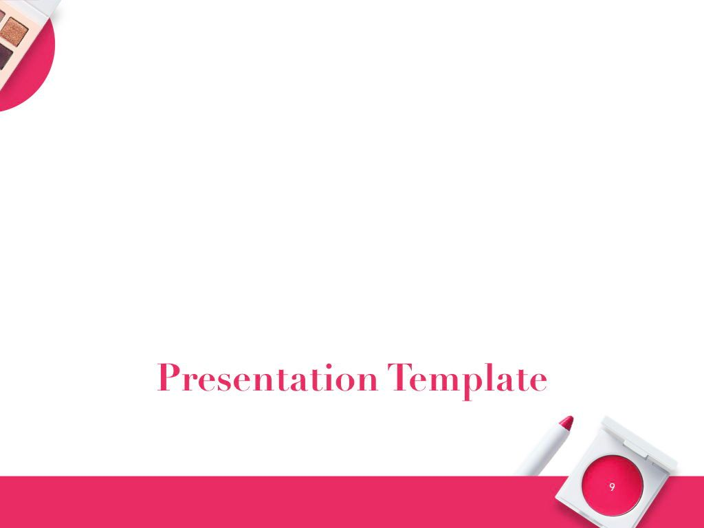 Beauty and Makeup PowerPoint Theme, Slide 10, 05148, Presentation Templates — PoweredTemplate.com