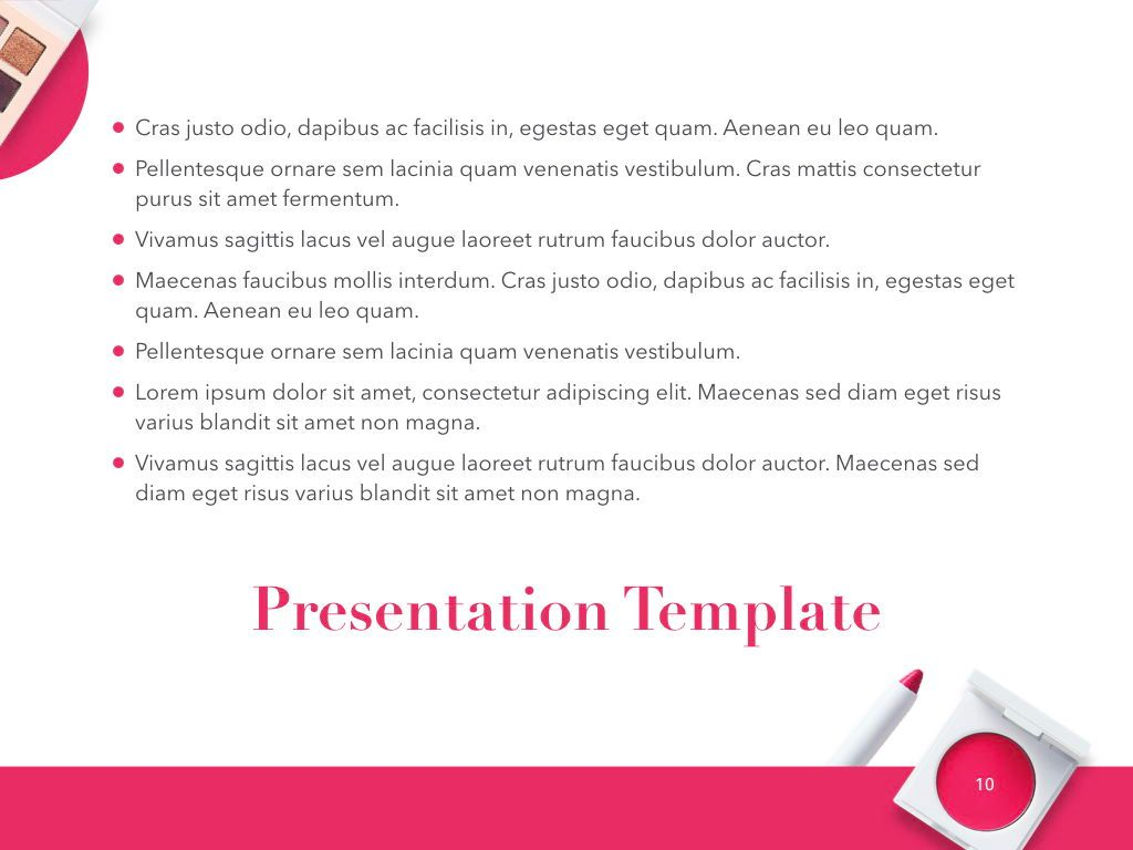 Beauty and Makeup PowerPoint Theme, Slide 11, 05148, Presentation Templates — PoweredTemplate.com