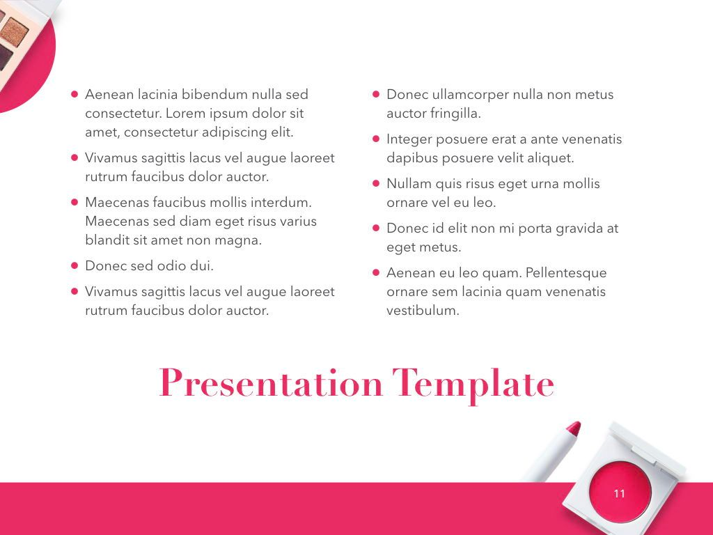 Beauty and Makeup PowerPoint Theme, Slide 12, 05148, Presentation Templates — PoweredTemplate.com