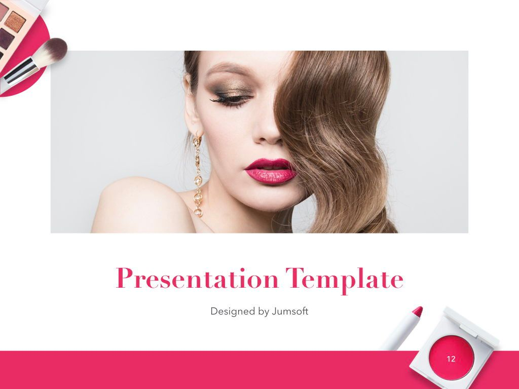Beauty and Makeup PowerPoint Theme, Slide 13, 05148, Presentation Templates — PoweredTemplate.com