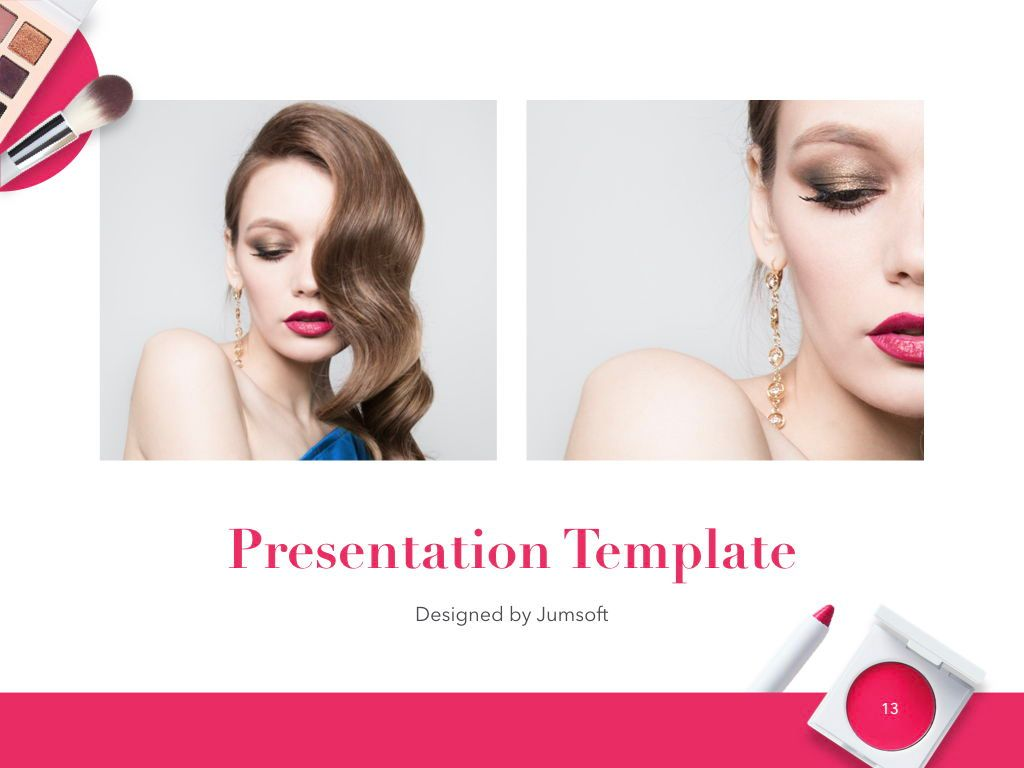 Beauty and Makeup PowerPoint Theme, Slide 14, 05148, Presentation Templates — PoweredTemplate.com