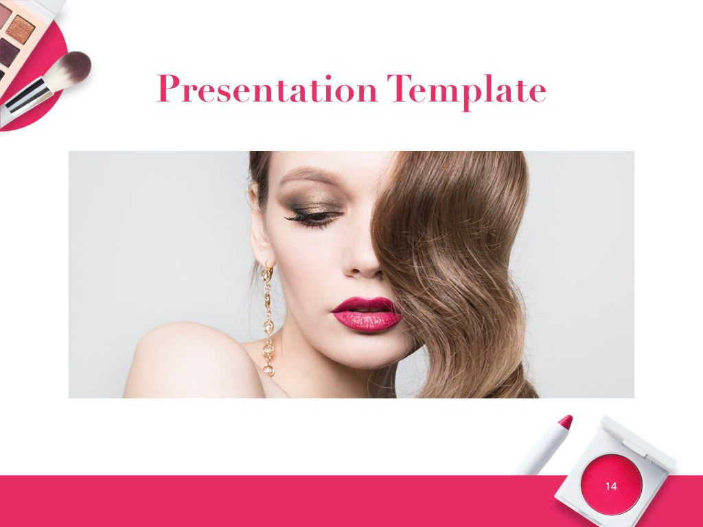 Beauty and Makeup PowerPoint Theme, Slide 15, 05148, Presentation Templates — PoweredTemplate.com