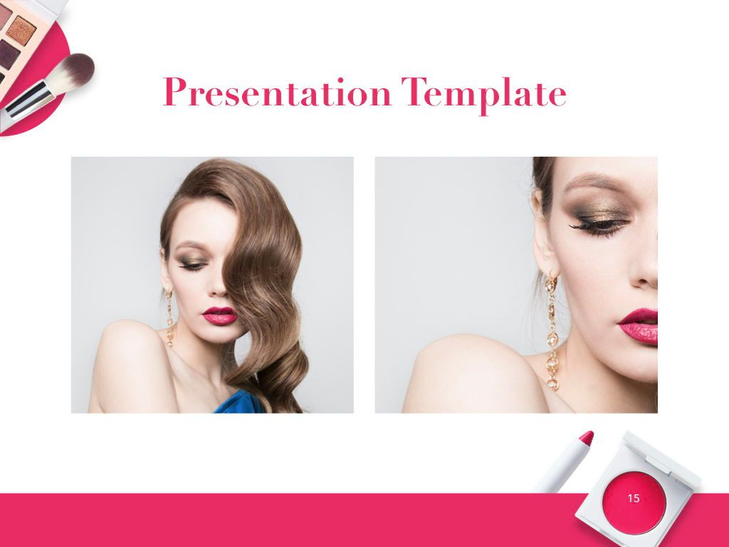 Beauty and Makeup PowerPoint Theme, Slide 16, 05148, Presentation Templates — PoweredTemplate.com
